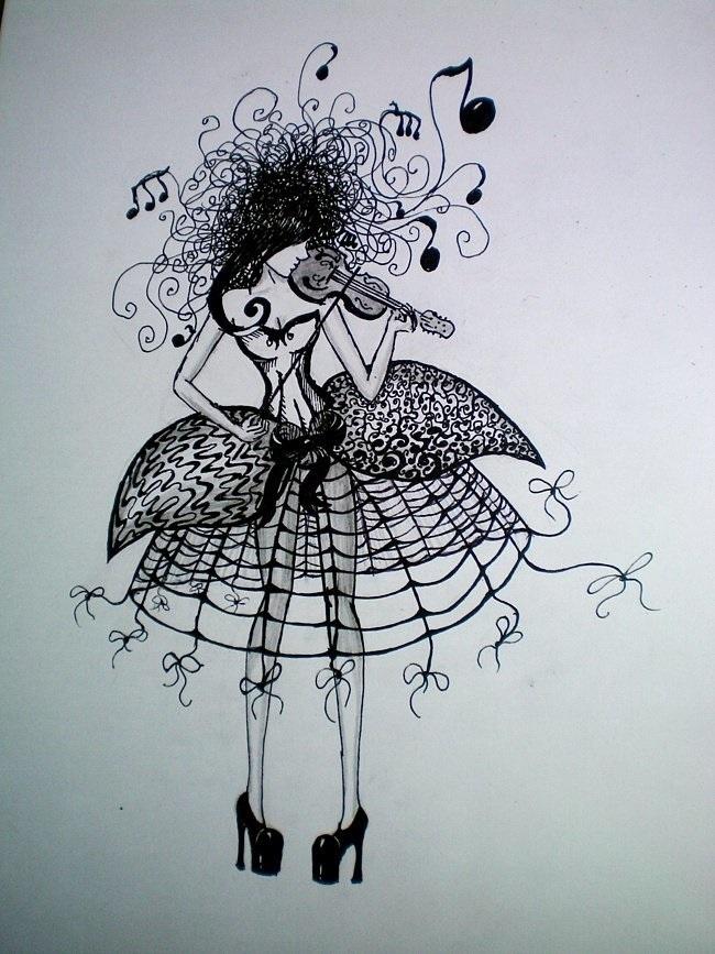 Красивые рисунки гелевой ручкой для срисовки001