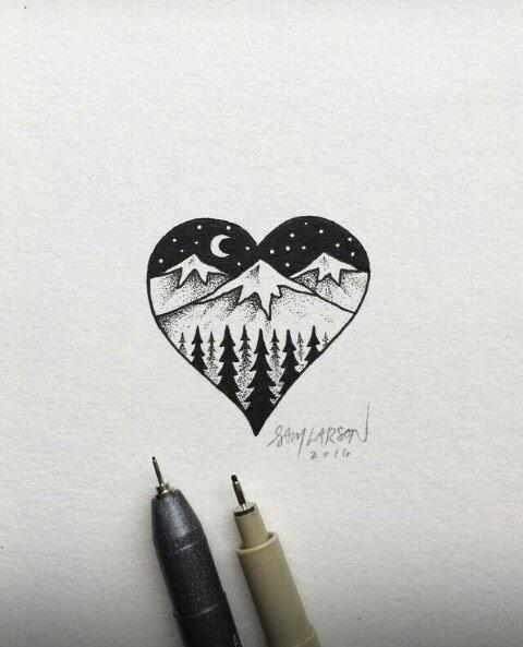 Красивые рисунки гелевой ручкой для срисовки002