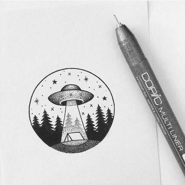Красивые рисунки гелевой ручкой для срисовки004