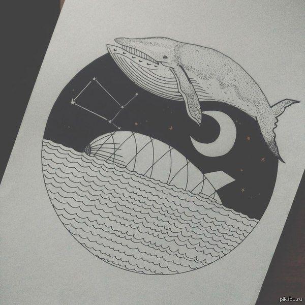Красивые рисунки гелевой ручкой для срисовки007