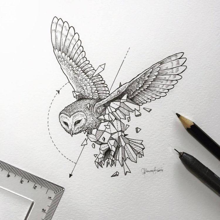 Красивые рисунки гелевой ручкой для срисовки009
