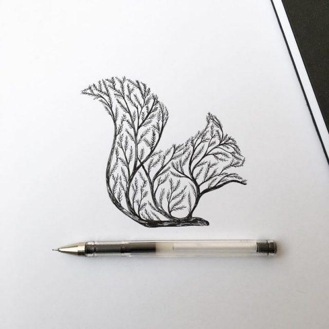 Красивые рисунки гелевой ручкой для срисовки014