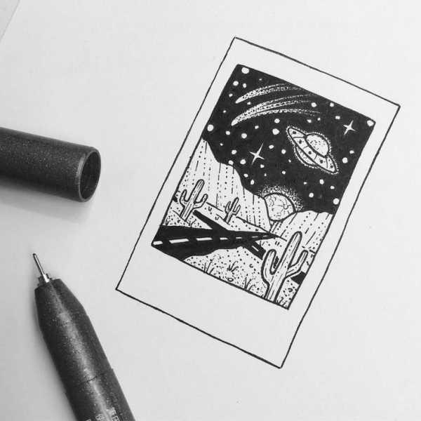 Красивые рисунки гелевой ручкой для срисовки015