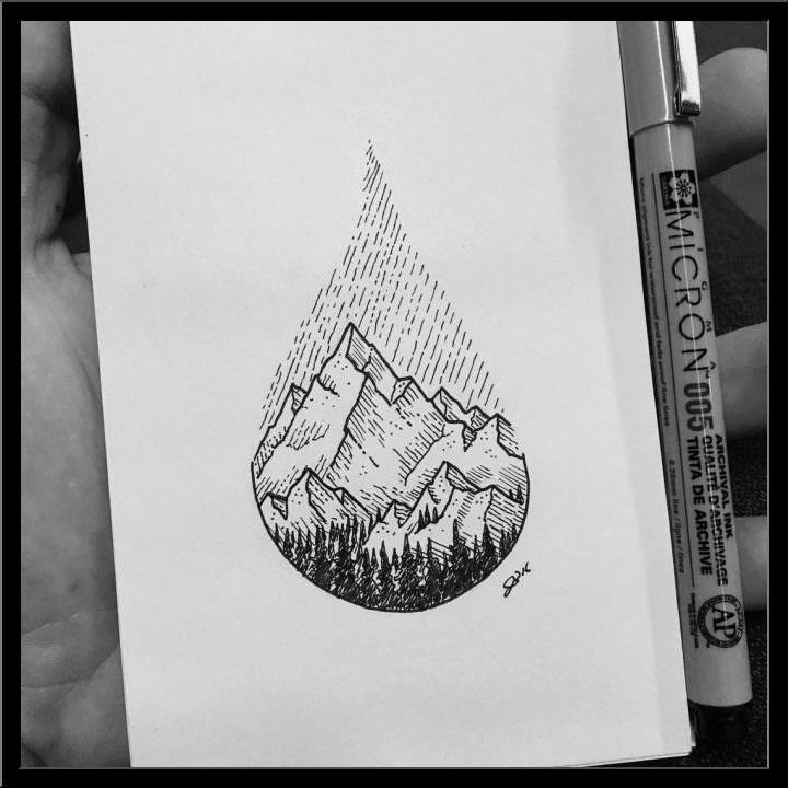 Красивые рисунки гелевой ручкой для срисовки016