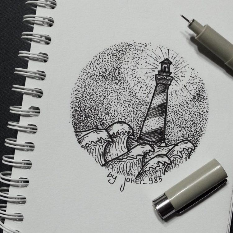 Красивые рисунки гелевой ручкой для срисовки017