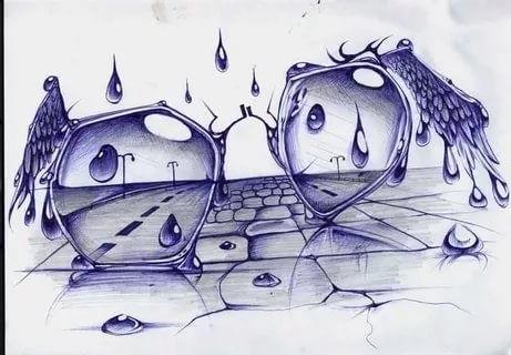 Красивые рисунки гелевой ручкой для срисовки019