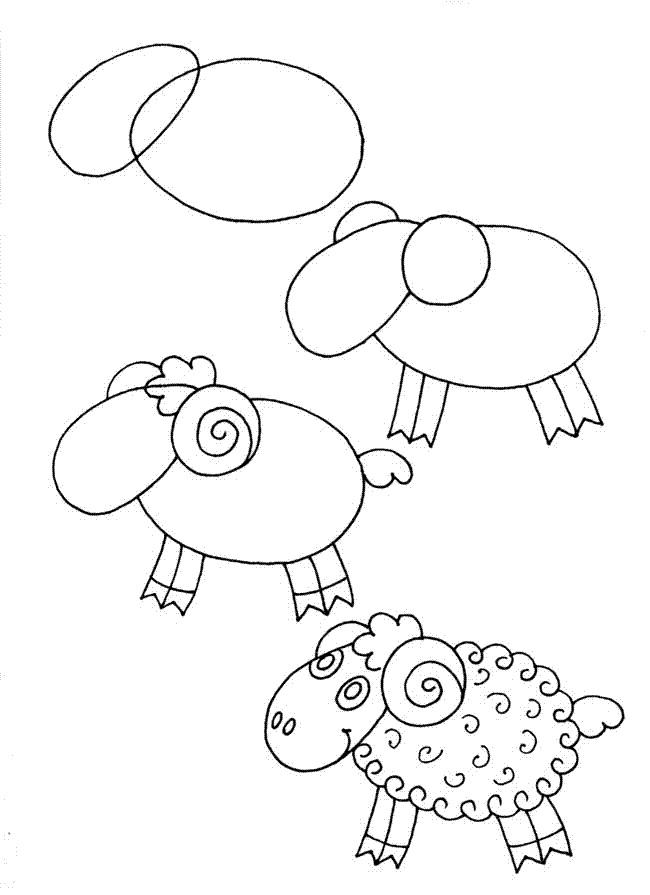 Красивые рисунки для детей для срисовки008