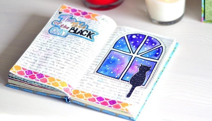Красивые рисунки для личного дневника для срисовки010