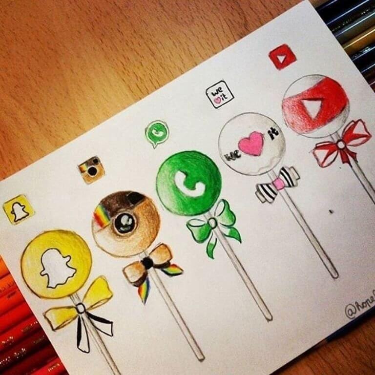 Красивые рисунки для личного дневника для срисовки013