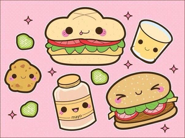 Красивые рисунки еды для срисовки007