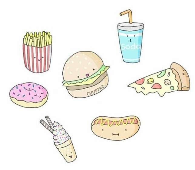 Красивые рисунки еды для срисовки012