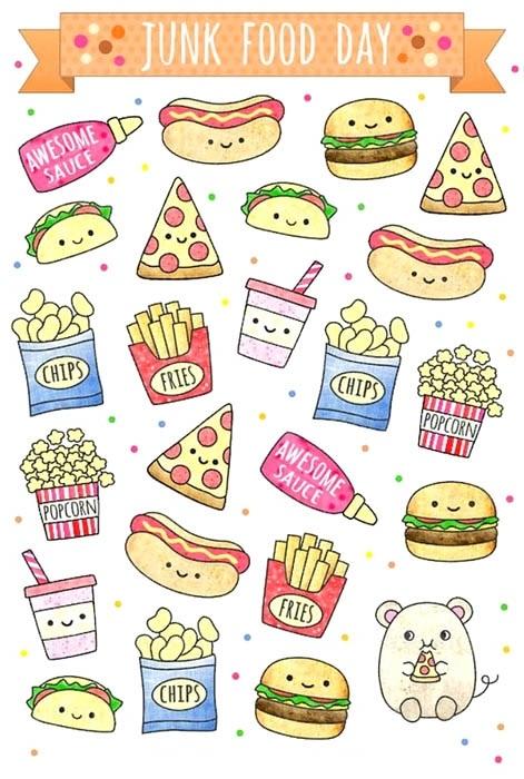 Красивые рисунки еды для срисовки016