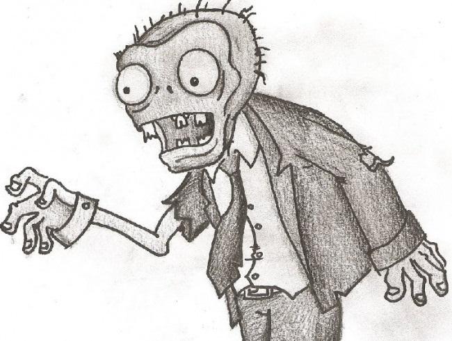 Красивые рисунки зомби для срисовки001
