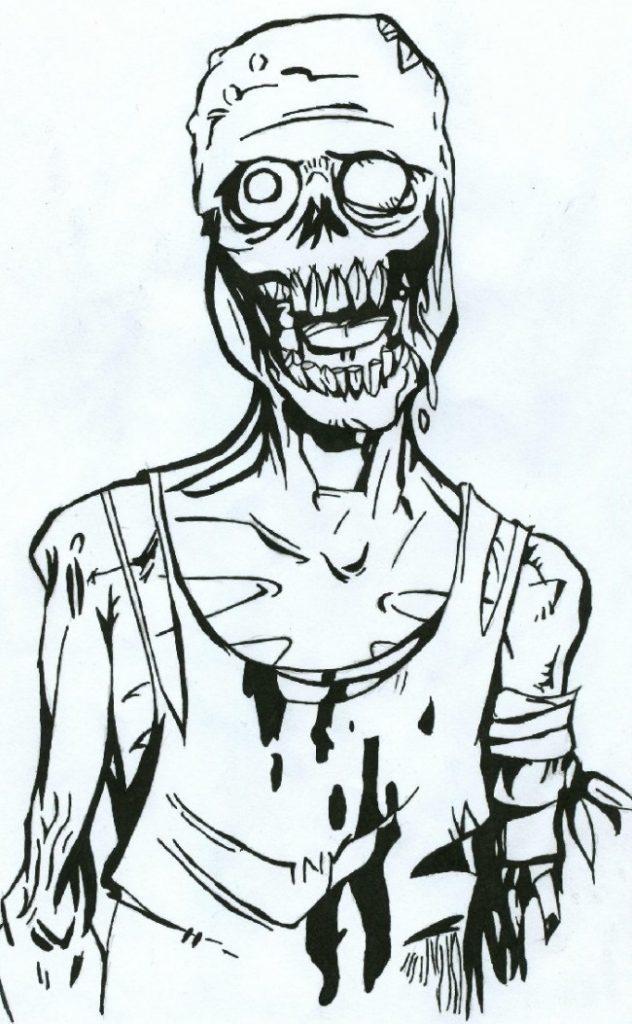 Красивые рисунки зомби для срисовки002