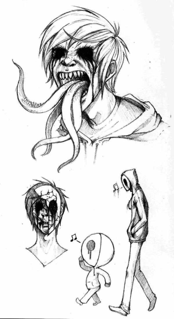 Красивые рисунки зомби для срисовки003