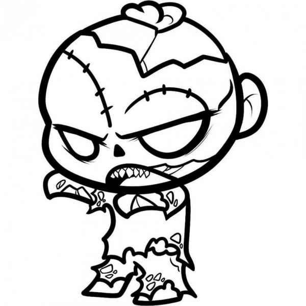 Красивые рисунки зомби для срисовки007