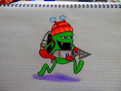 Красивые рисунки зомби для срисовки008