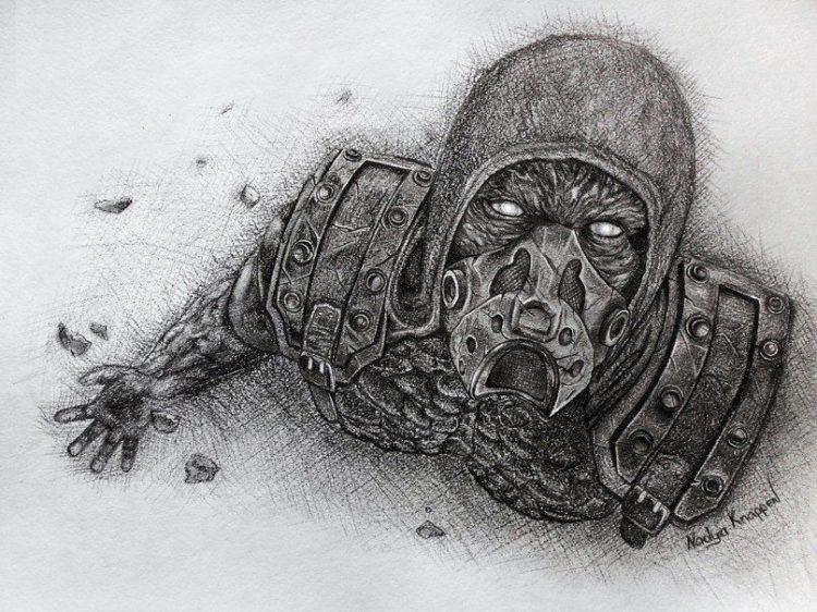 Красивые рисунки зомби для срисовки010