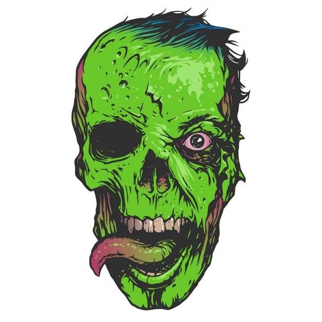Красивые рисунки зомби для срисовки012
