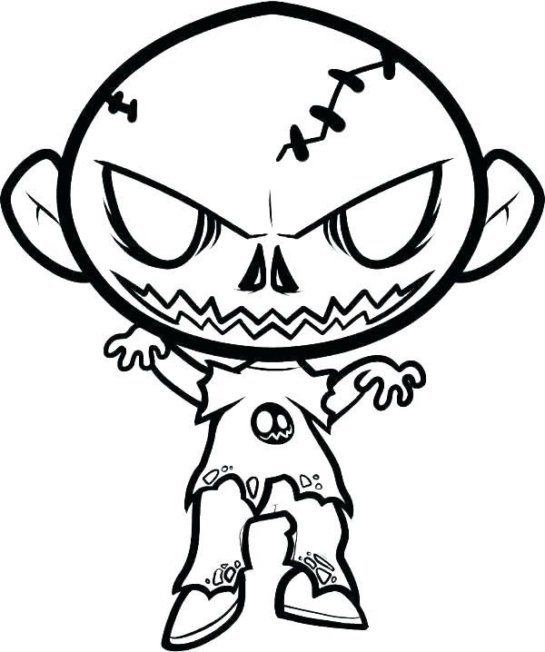 Красивые рисунки зомби для срисовки014