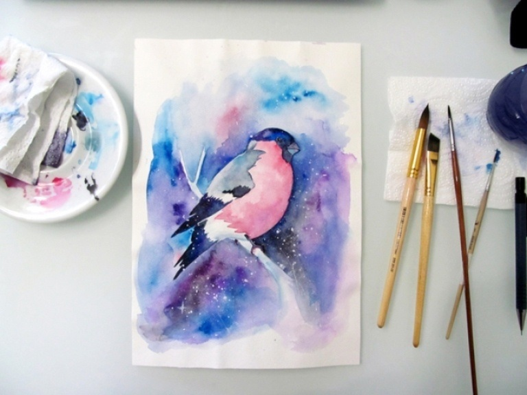 Красивые рисунки красками для срисовки003