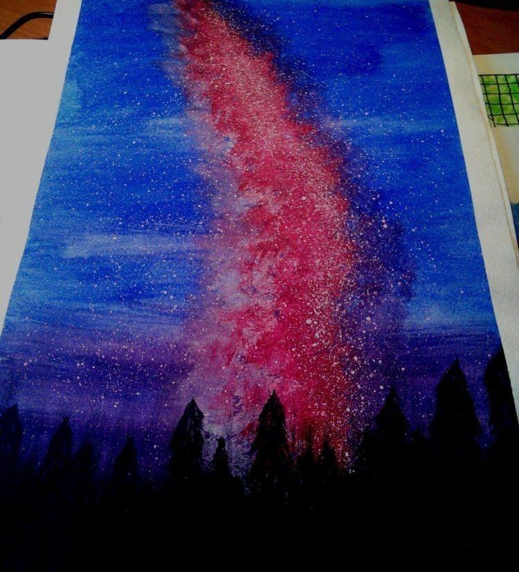 Красивые рисунки красками для срисовки006