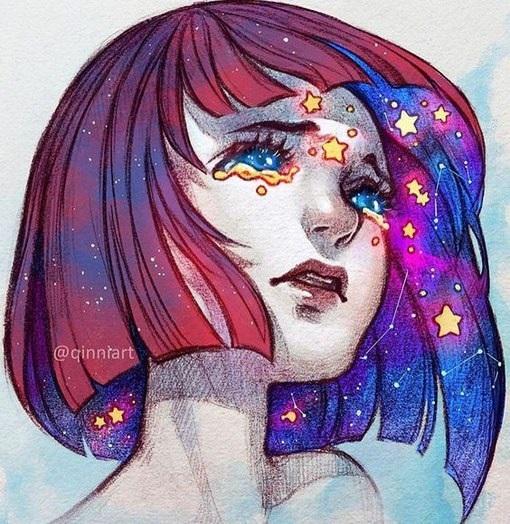 Красивые рисунки красками для срисовки010