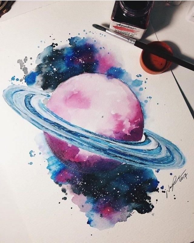 Красивые рисунки красками для срисовки013