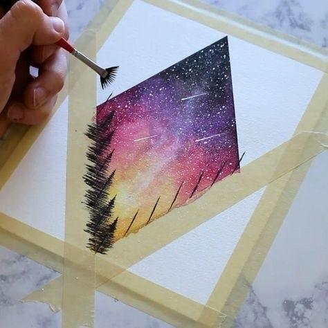 Красивые рисунки красками для срисовки014