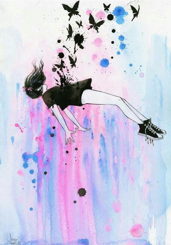 Красивые рисунки красками для срисовки015