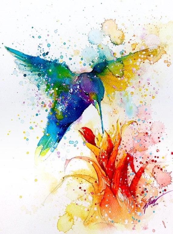 Красивые рисунки красками для срисовки020