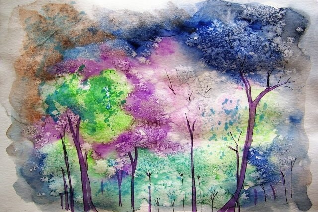 Красивые рисунки красками для срисовки021