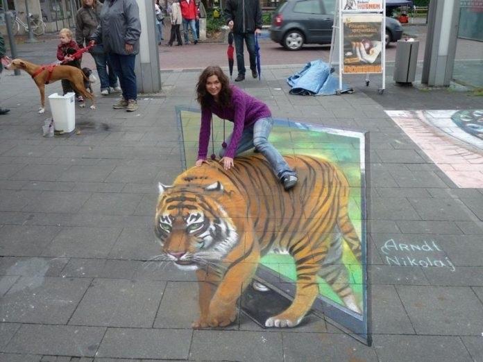 Красивые рисунки на асфальте для срисовки020