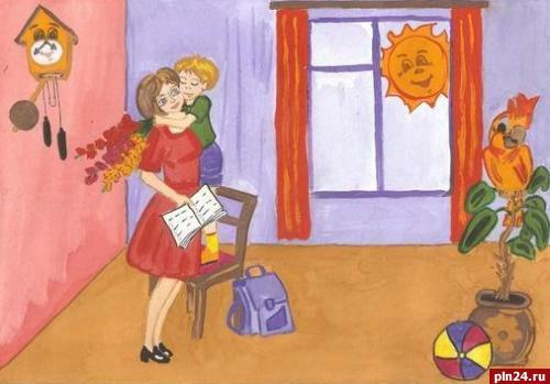 Красивые рисунки на день матери в России (13)