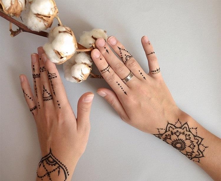 Красивые рисунки на руке для срисовки010