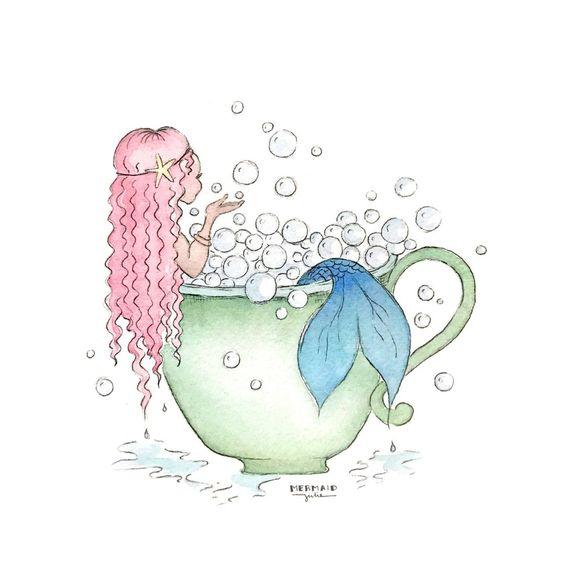 Красивые рисунки русалок для срисовки (10)