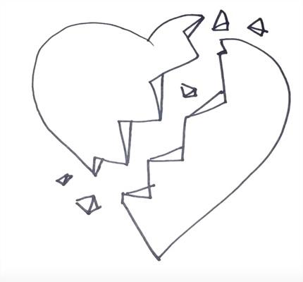 Красивые рисунки сердца для срисовки001