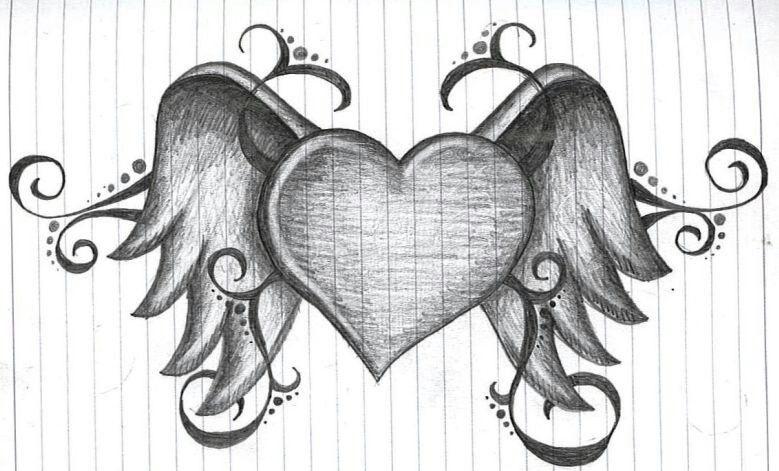 Красивые рисунки сердца для срисовки002