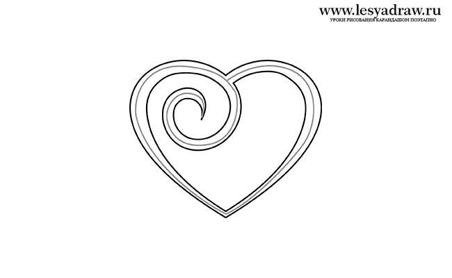 Красивые рисунки сердца для срисовки004