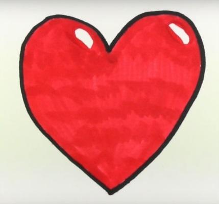 Красивые рисунки сердца для срисовки007