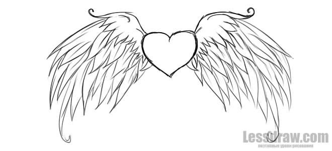 Красивые рисунки сердца для срисовки009