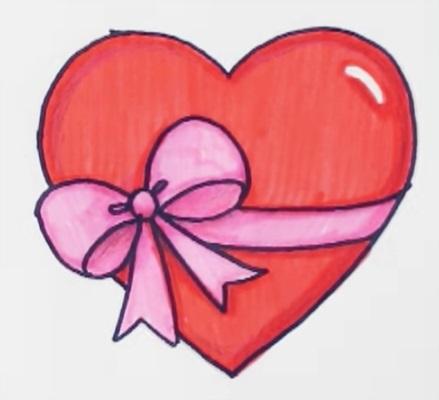 Красивые рисунки сердца для срисовки010