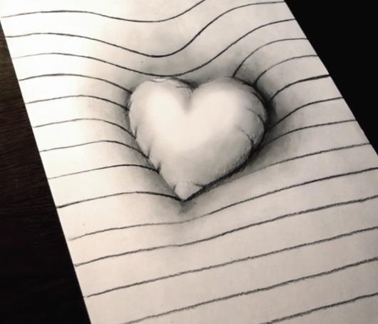 Красивые рисунки сердца для срисовки011