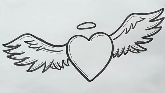 Красивые рисунки сердца для срисовки012