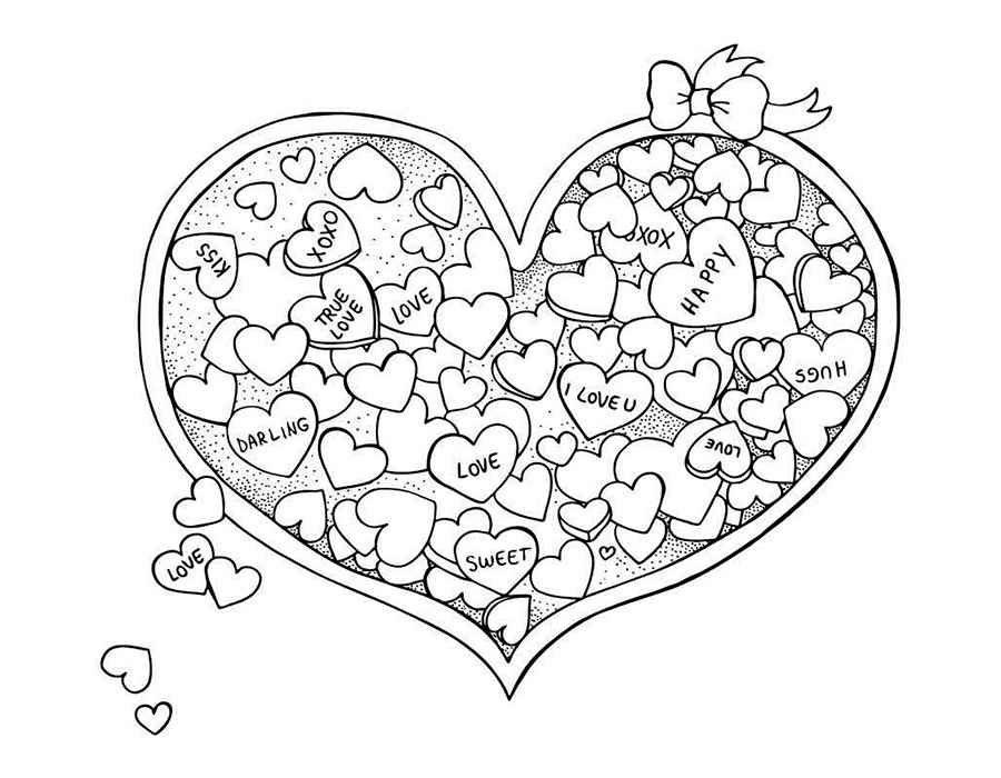 Красивые рисунки сердца для срисовки013