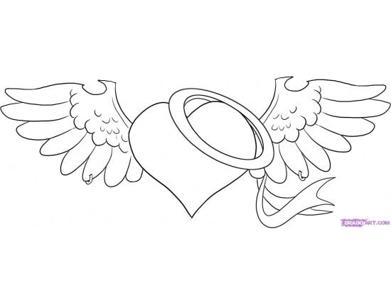 Красивые рисунки сердца для срисовки016