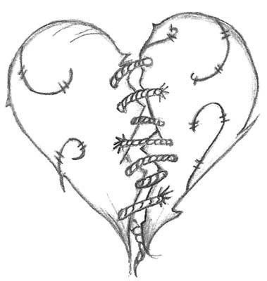 Красивые рисунки сердца для срисовки018