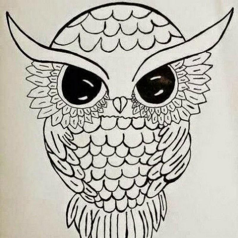 Красивые рисунки совы для срисовки001