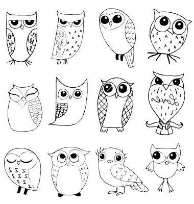 Красивые рисунки совы для срисовки004