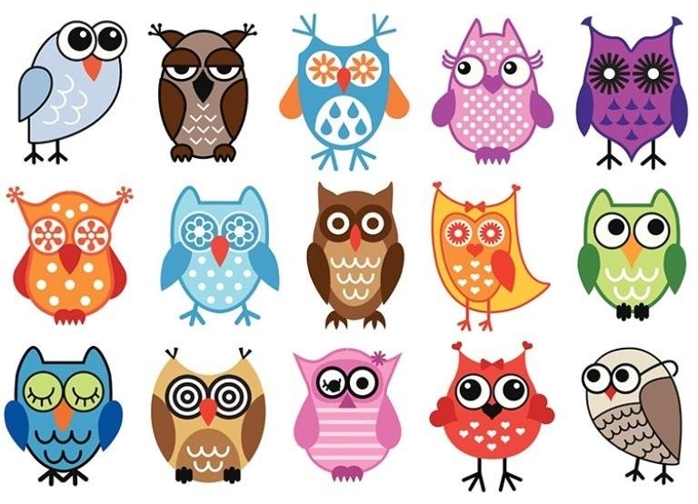 Красивые рисунки совы для срисовки006